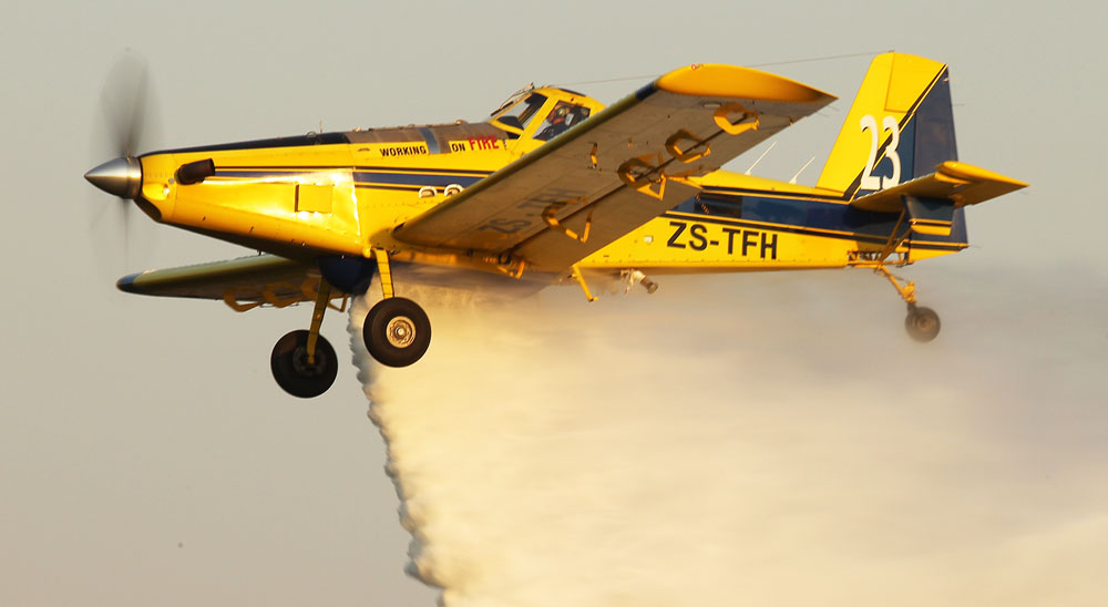 Working on Fire water bomber