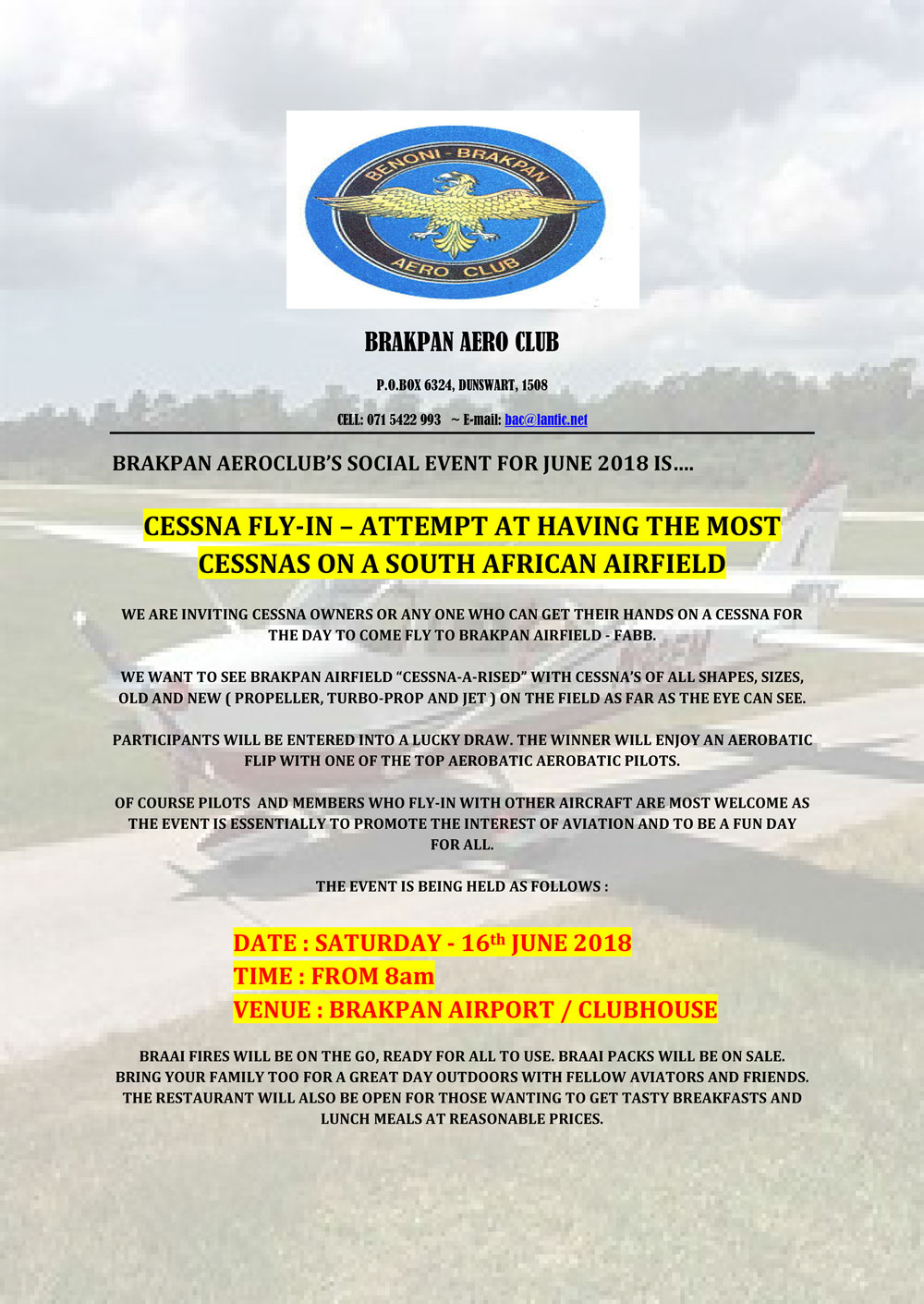 Brakpan Aero Club - Cessna Fly In