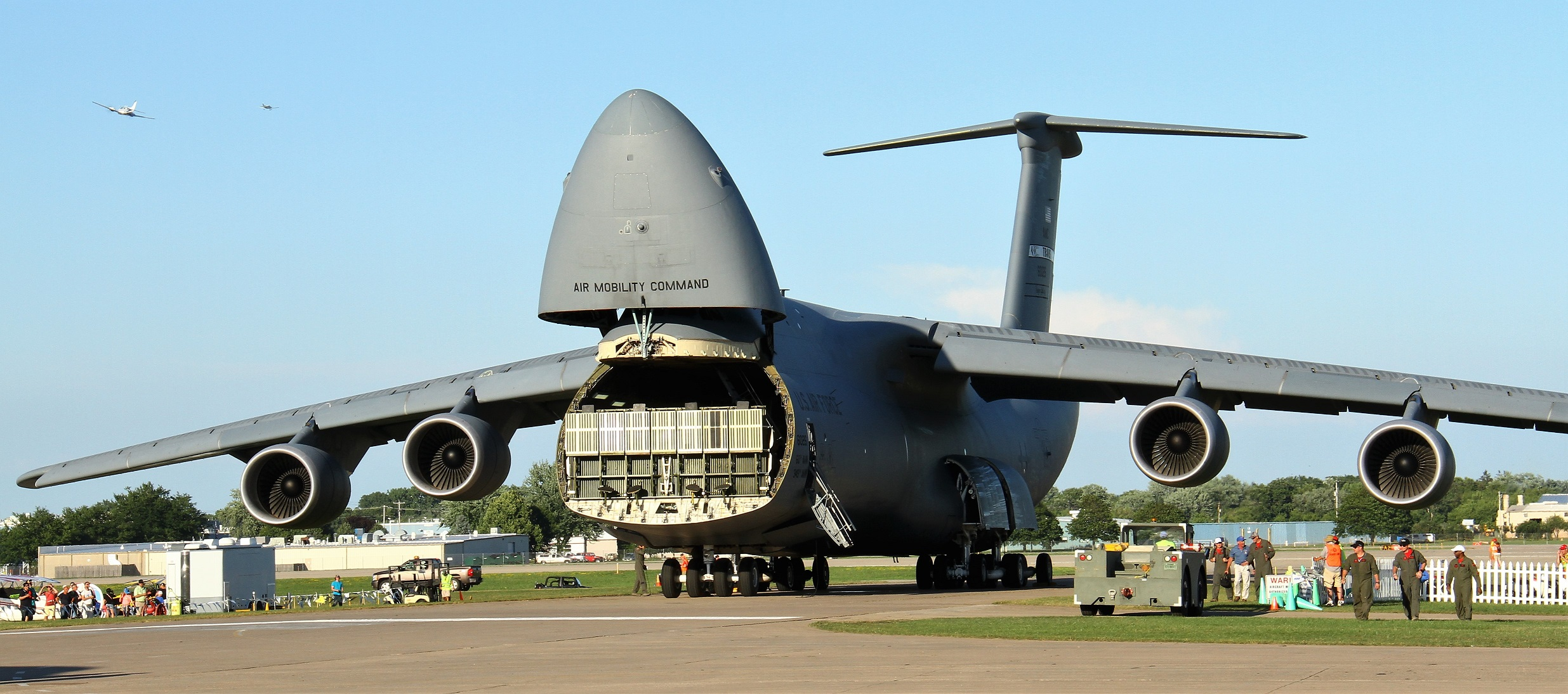 C-5 Galaxy arrived in the late afternoon