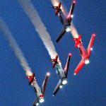Aero Shell Harvards night show