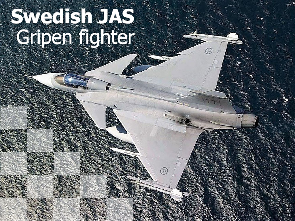 Swedish JAS Gripen fighter