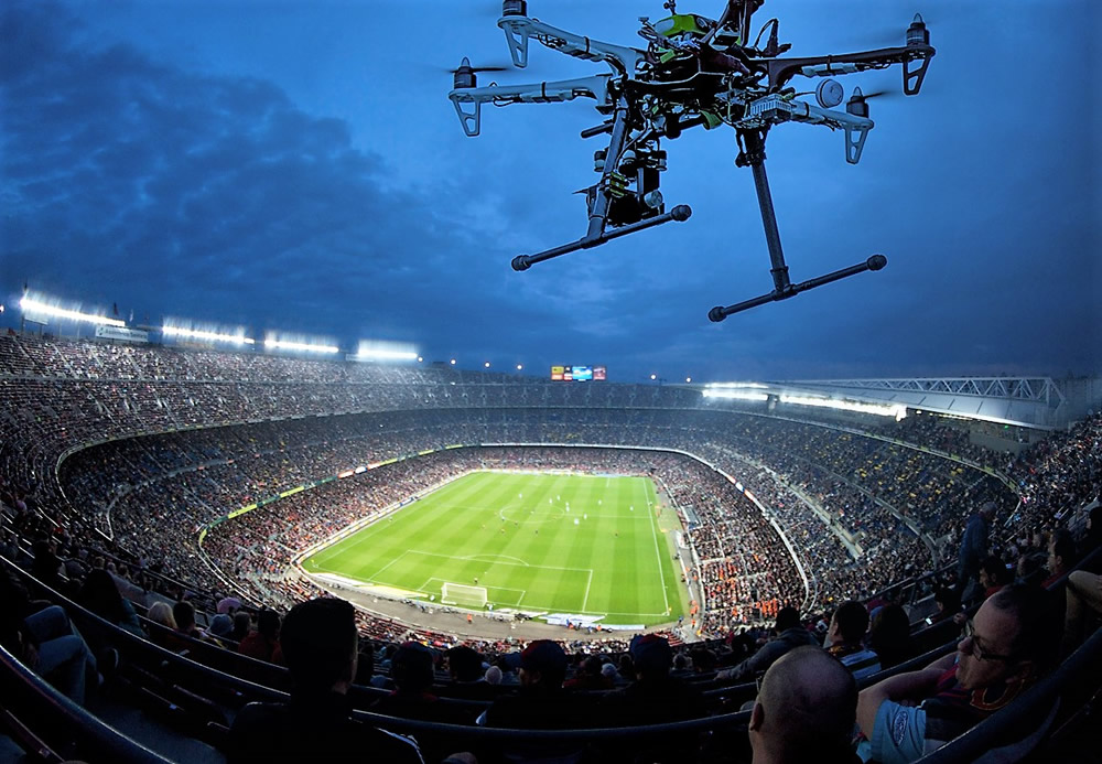 Drones at stadiums