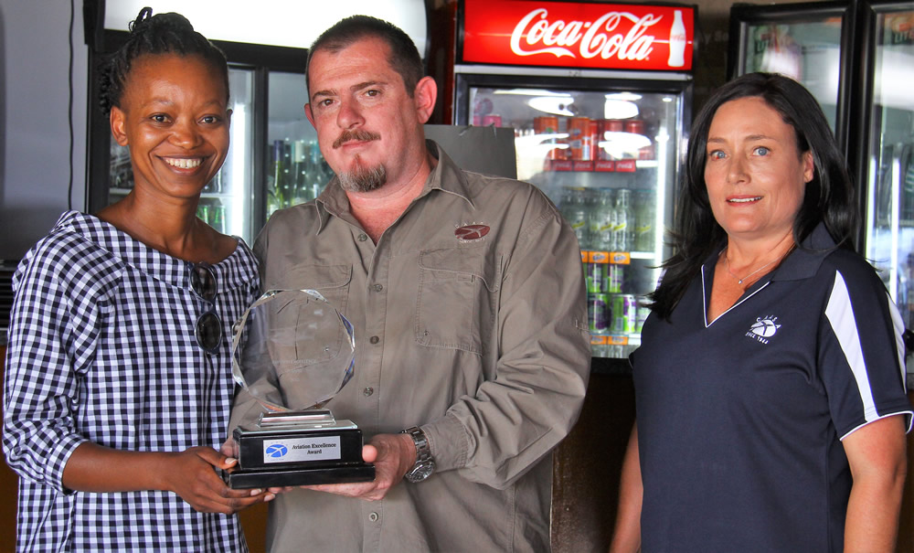 Aviation Excellence award to Refilwe Ledwaba