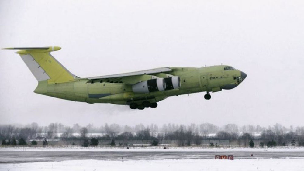 First serial produced IL-476 airborne