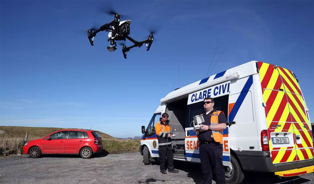 Drones used as first responders