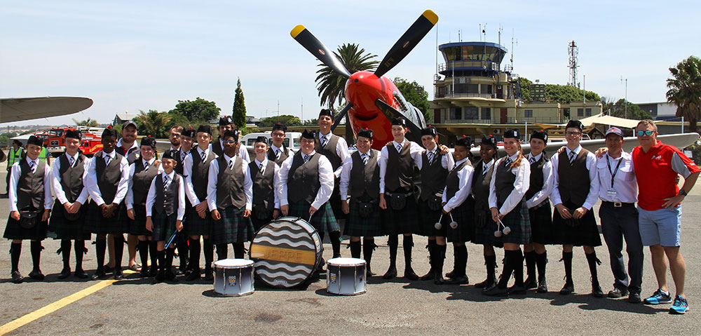Jeppe High School pipe band