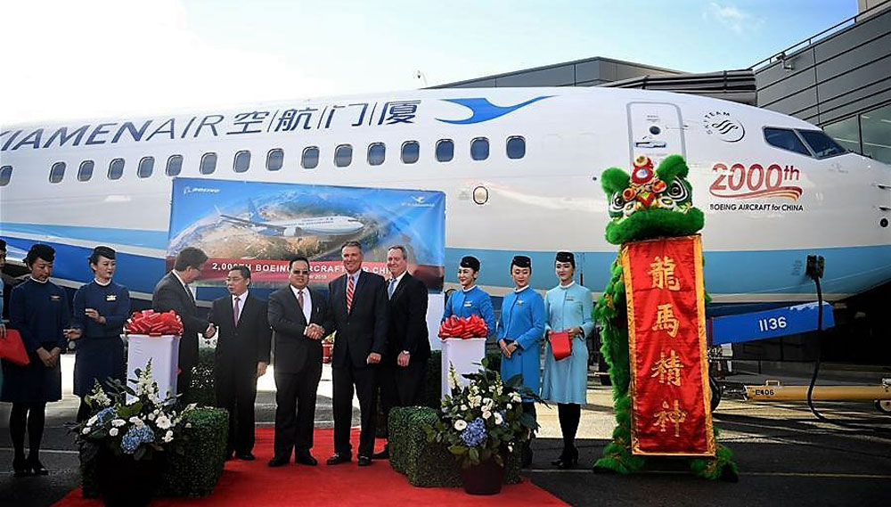 Boeing's 2000th plane to China