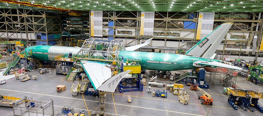 Boeing 777X final assembly
