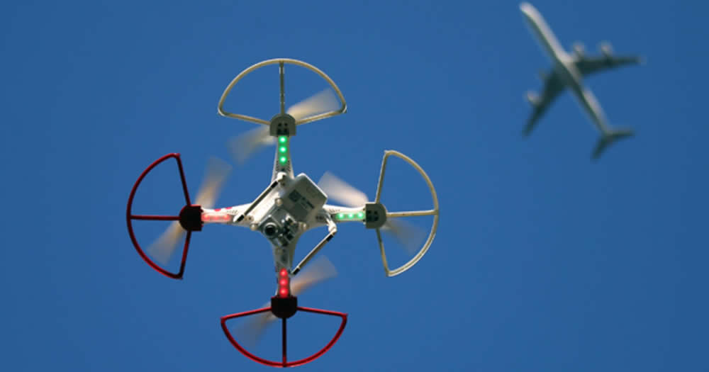 Drones conflict with airplanes