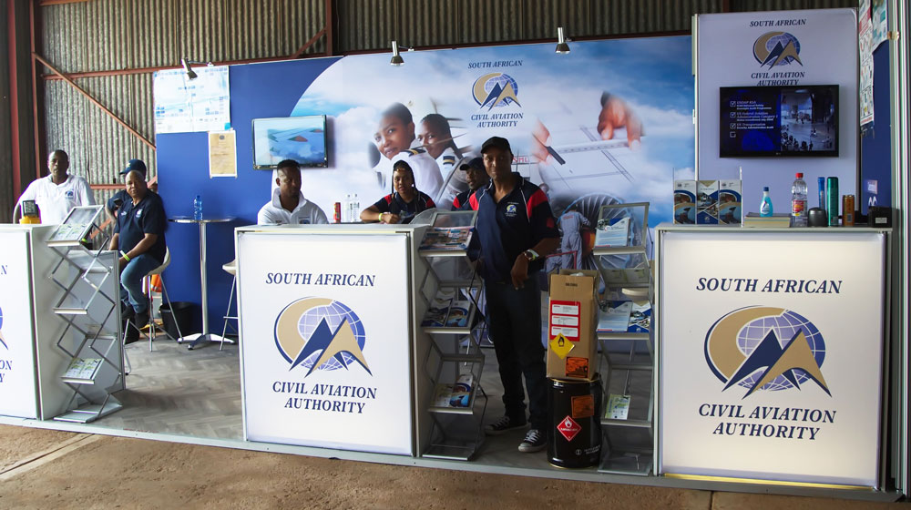 South Africa Civil Aviation Authority showstand