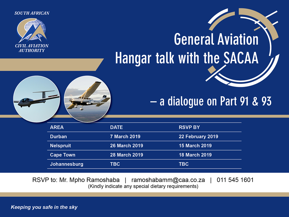 SACAA Aviation Roadshow invite