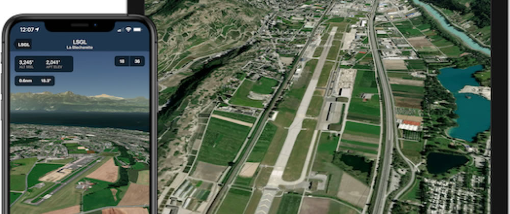ForeFlight App shows Airport 3D