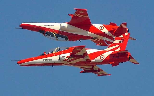 Indian Air Force jets collide