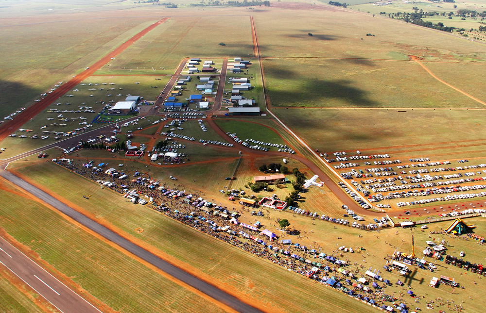 Overview of the airfield