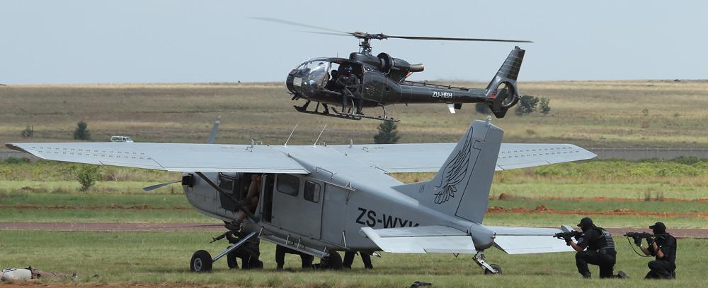 Aircraft hijacking demonstration