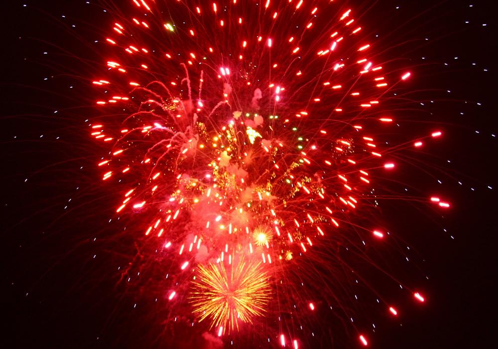 Fantastic fireworks display