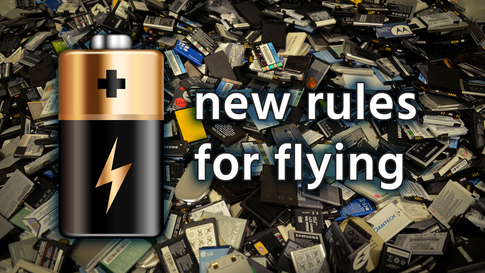 Li batteries banned on passenger flights