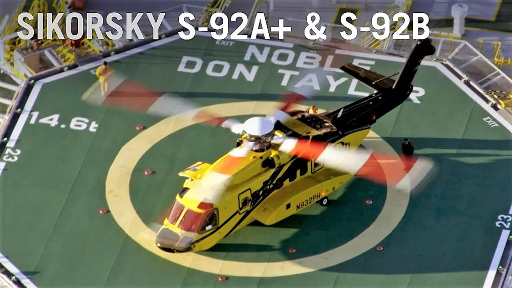Sikorsky new S-92A+ and S-92B