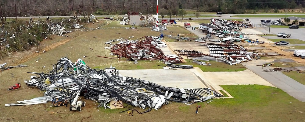 40 aircraft destroyed by tornado