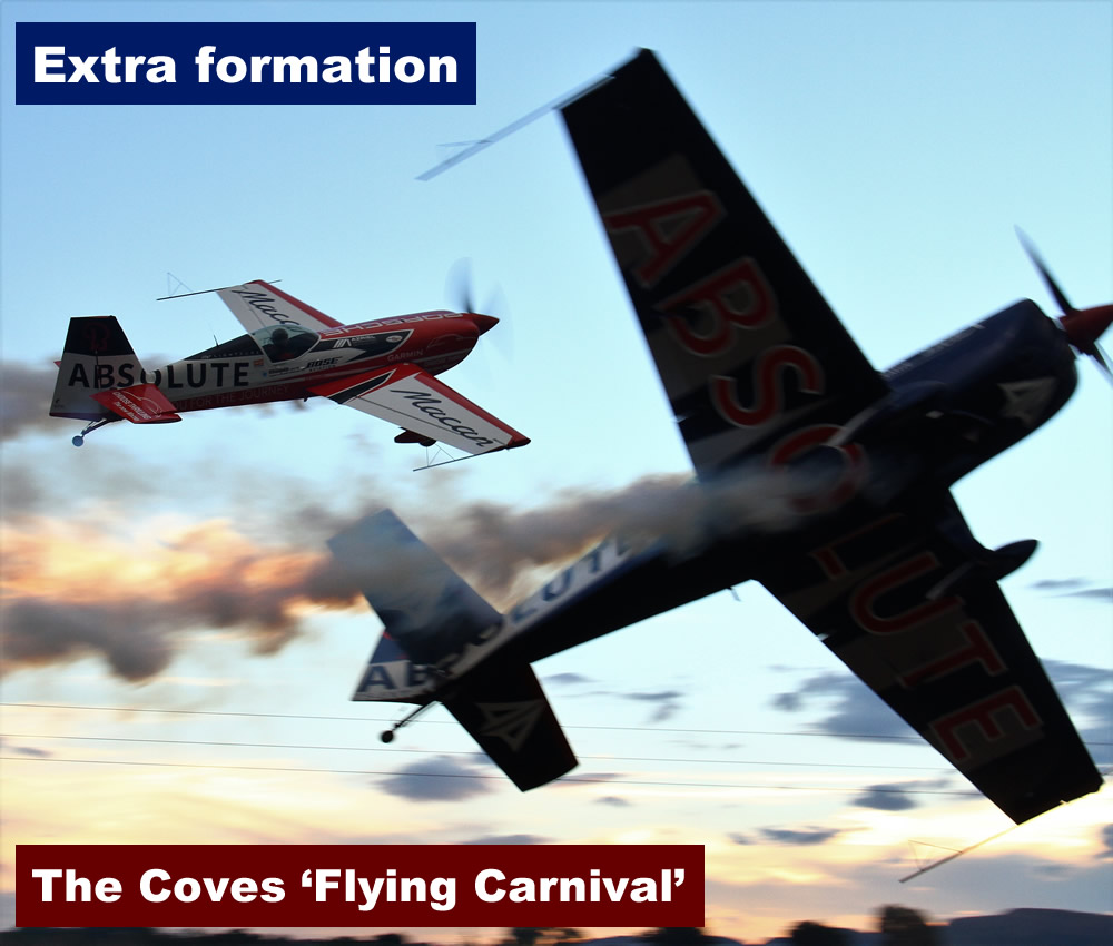 Extra formation at The Coves fly-in