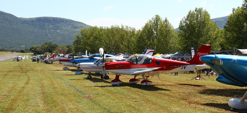 The Coves visiting aircraft line-up