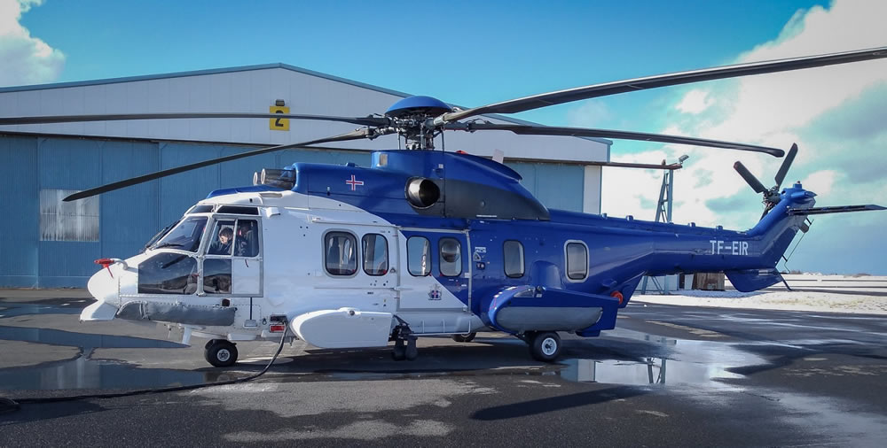 Icelandic Coast Guard H225 helicopter