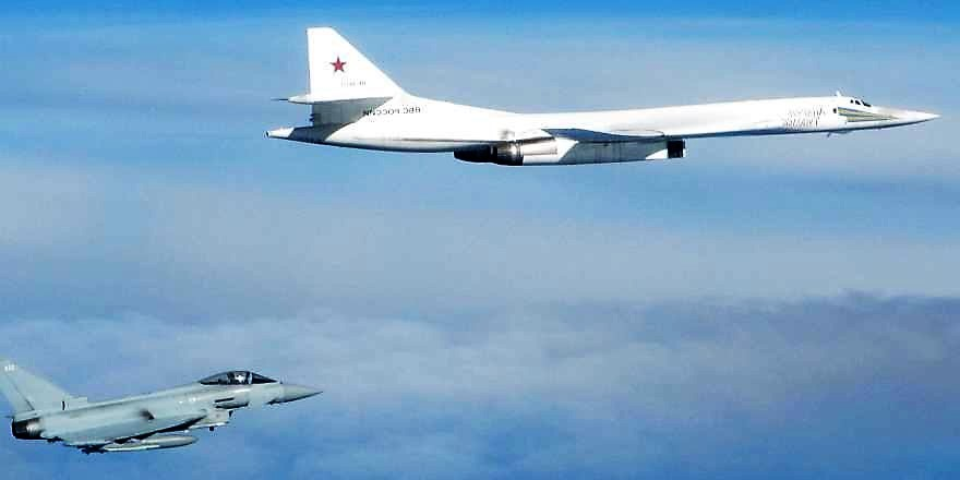 RAF Typhoons intercept Russian Blackjack bomber