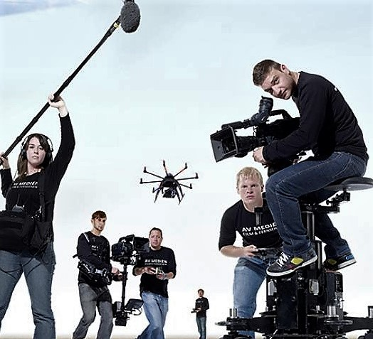 Camera drones for movies