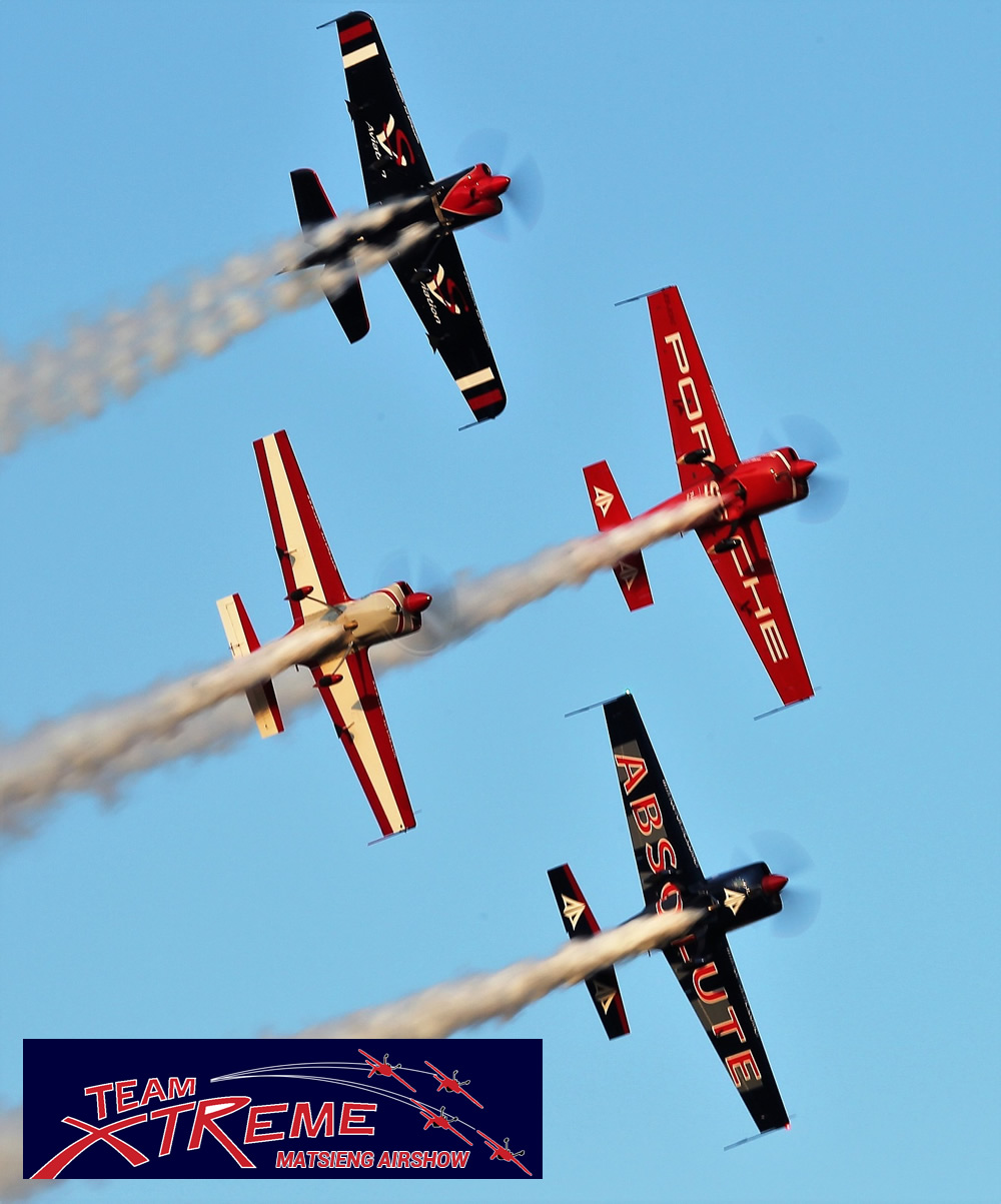 Team Extreme at the Matsieng airshow on Saturday
