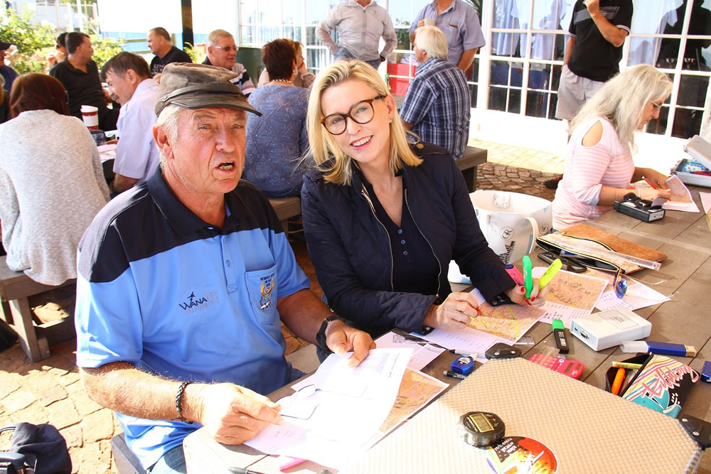 Thys van der Merwe and Gerda Pienaar preparing for the rally