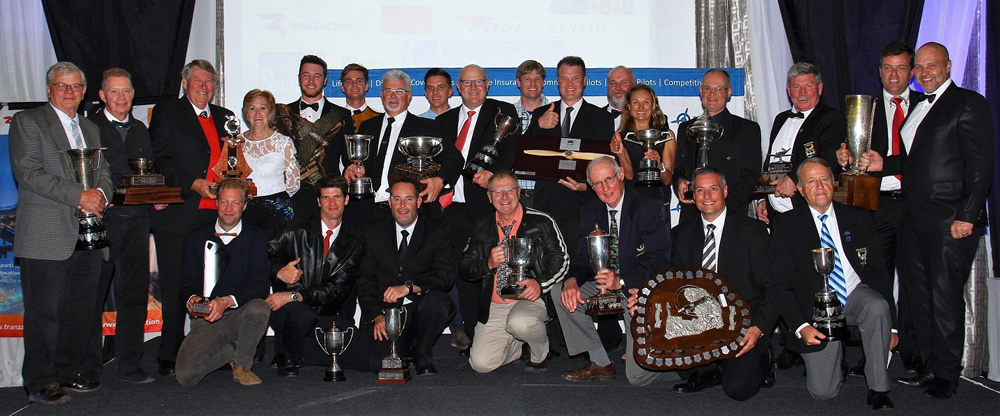All the trophy winners at the dinner