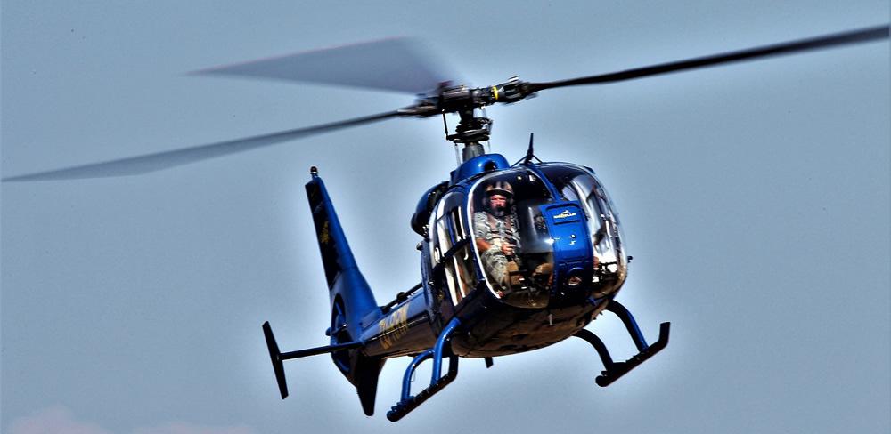 Gazelle helicopter flown by Juba Joubert