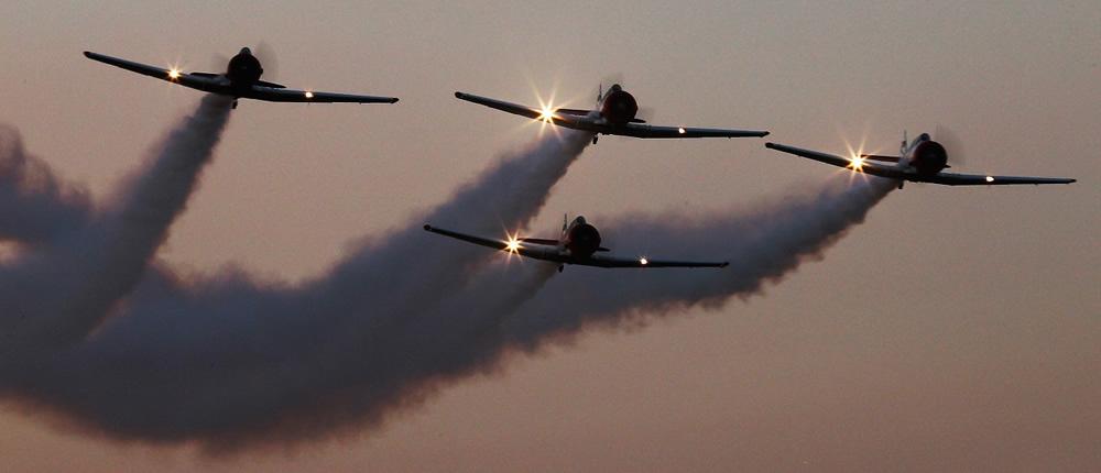 Puma Energy Flying Lions sunset flight