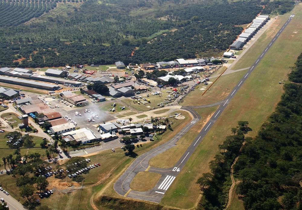 Aerial view of Nelspruit airfield