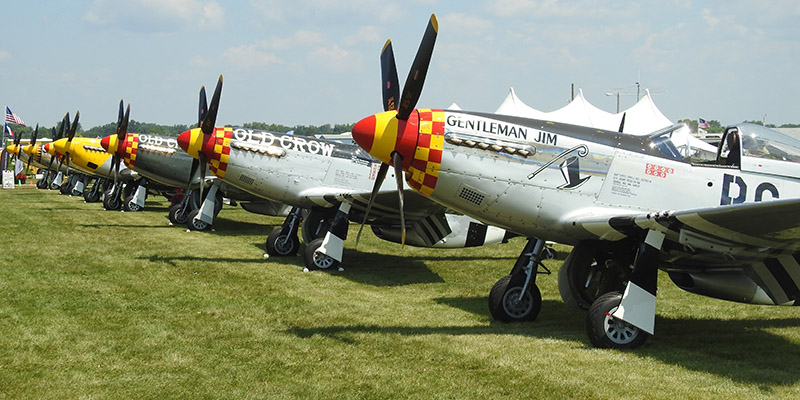 P51 Mustang line-up expected for Oshkosh 2019