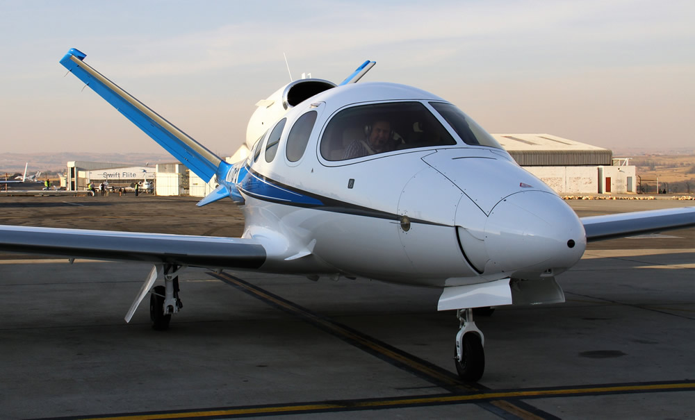 Cirrus Vision Jet arrives at Lanseria