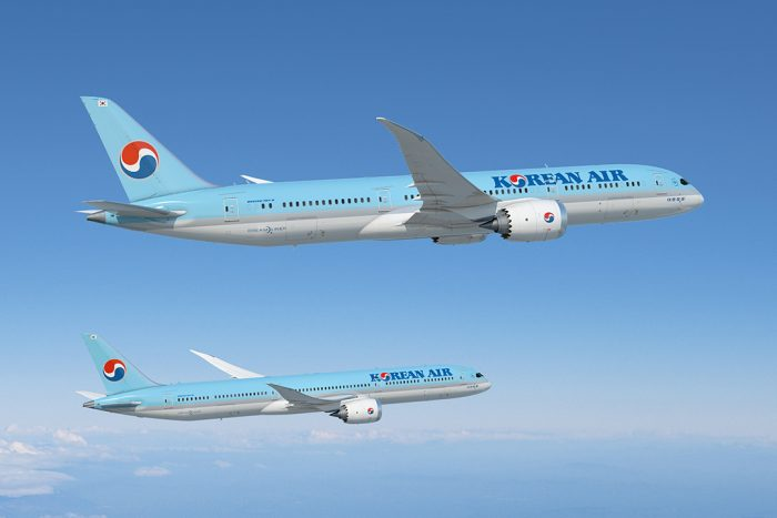 Korean Air Boeing 787 Dreamliners