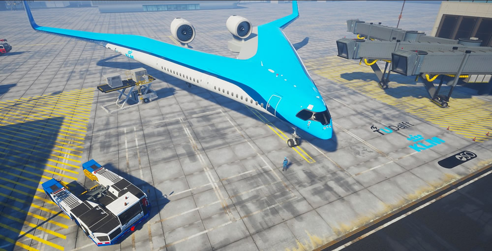 KLM and TU Delft aircraft