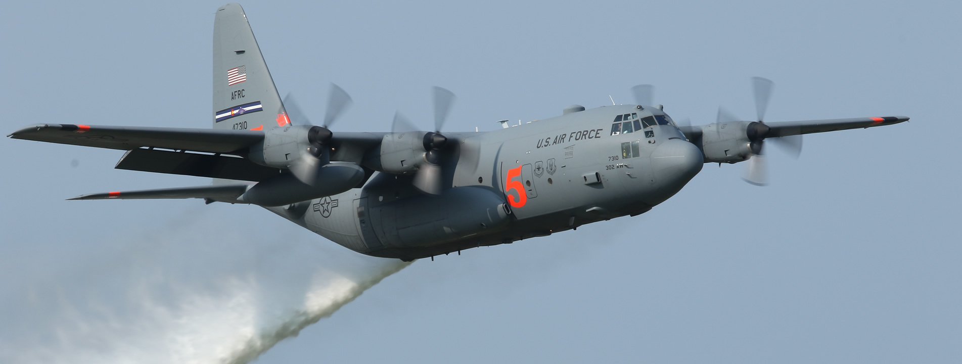 USAF C-130 water bomber