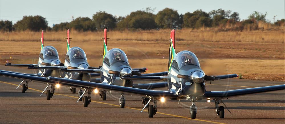 SAAF Silver Falcons taxiing
