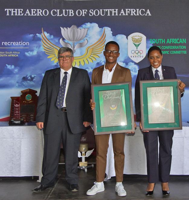Aero Club Awards Goitseona Diale and Boitumelo Tumi Katis