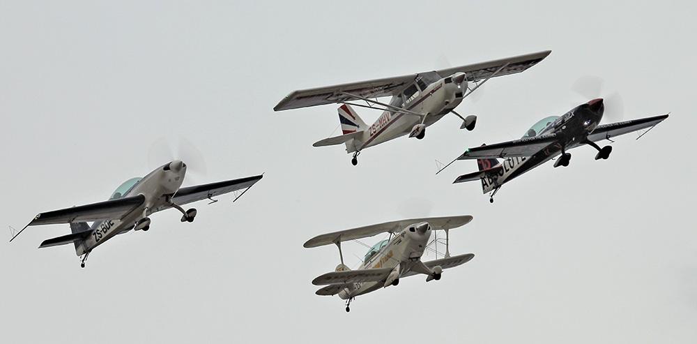 Aerobatics formation