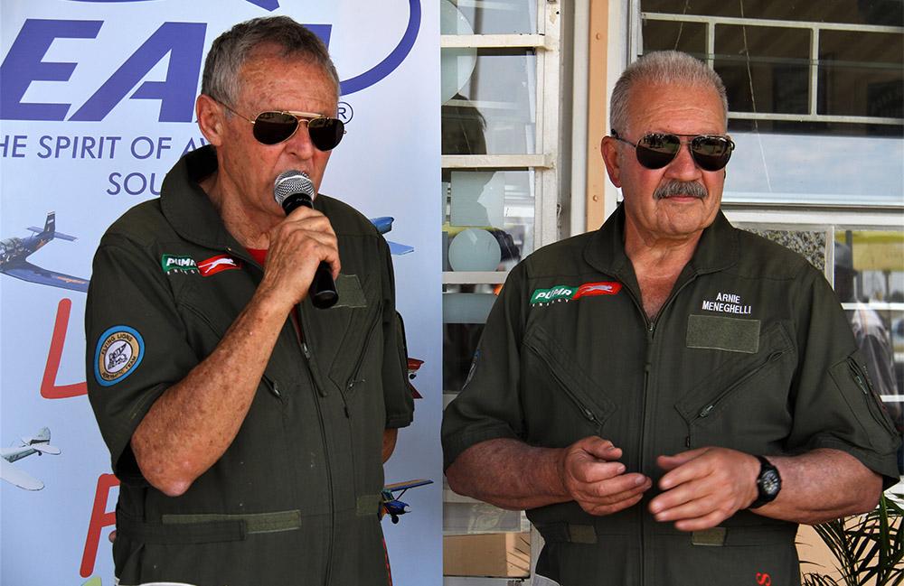 Sully Levin and Arnie Meneghelli safety talk