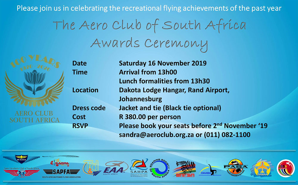 Aero Club of South Africa awards