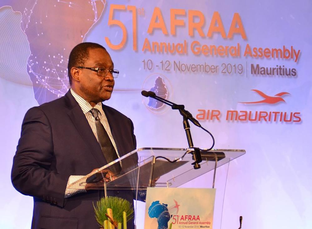 AFRAA Secretary General giving his opening speech at AFRAA's 51st AGA (2)