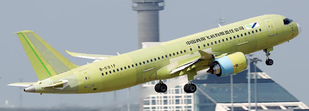 Fifth prototype of COMAC C919 takes to the skies