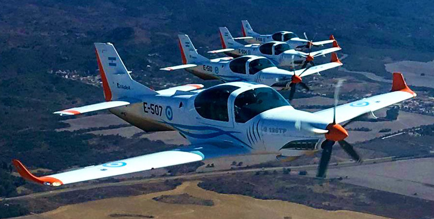 Ethiopian Air Force Grob 120TP trainers