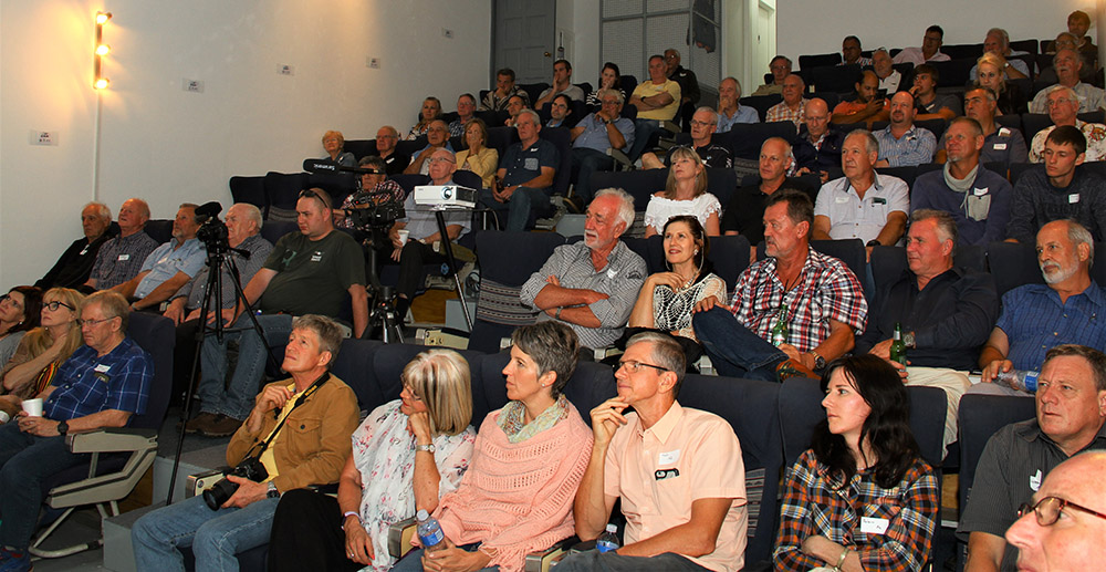 The audience at the EAA auditorium