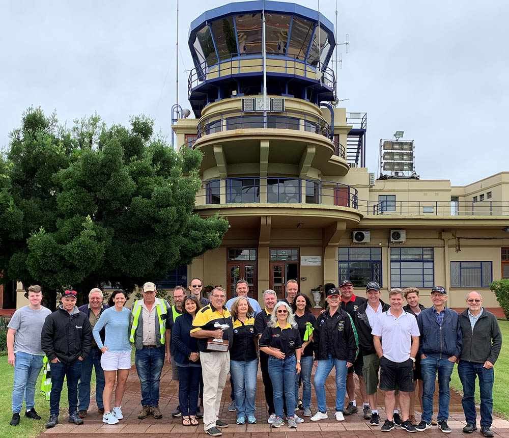 The full group of pilots and navigators
