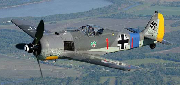 First flight of restored FW 190